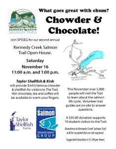 Trail Fundraiser on Nov 16, 11:00 - 1:00.