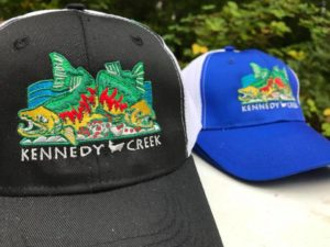 Check this year's Kennedy Creek Salmon Trail hats!